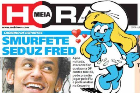 O Cruzeiro, também conhecido como Marias e Smurfetes, seduz Fred atacante do Fluminense, até no Rio de Janeiro esse time do Cruzeiro é ridicularizado e tratado como uma cambada de viado