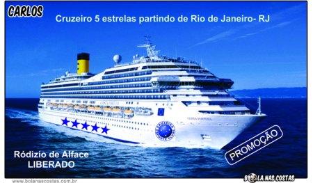 Cruzeiro cinco estrelas com rodízio de alface